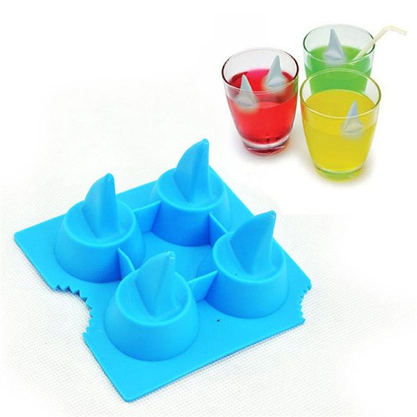 Silica Gel Chocolate Molds Safety Heat Resistant Baking Moulds Shark Fin Shape Silicone Ice Cube Tray Practical MMA1637