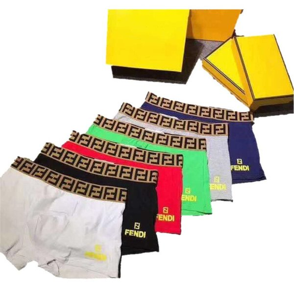 best selling FF Designer Boxers Brand Mens Underwears Luxury Fashion Breathable Soft Top Quality Shorts Men Underpants 5 Colors S-2XL A6503
