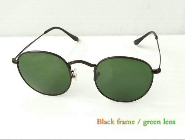 Black frame / grün Linse