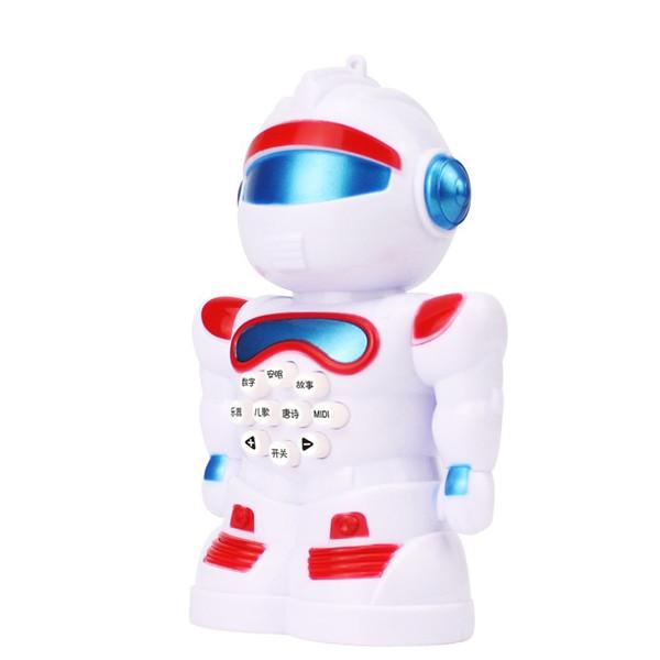 Educação Infantil Robô Inteligente Educação Infantil Música Histórica Máquina Canção Das Crianças Com Luz Mini Robô Trompete