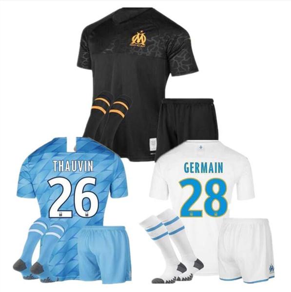2019 2020 Marseille Soccer jersey kids Марсель ПАЙЕТ БАЛОТЕЛЛИ Л.ГУСТАВО 19 20 ОМ Футбольные майки THAUVIN Майо Де Фут