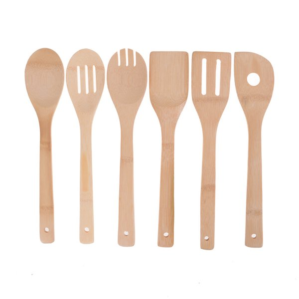 Bamboo Utensil Spoon Spatula Mixing Professional Kitchen Wooden Cooking Tools Approx. 30cm x 6cm Wooden Flatware