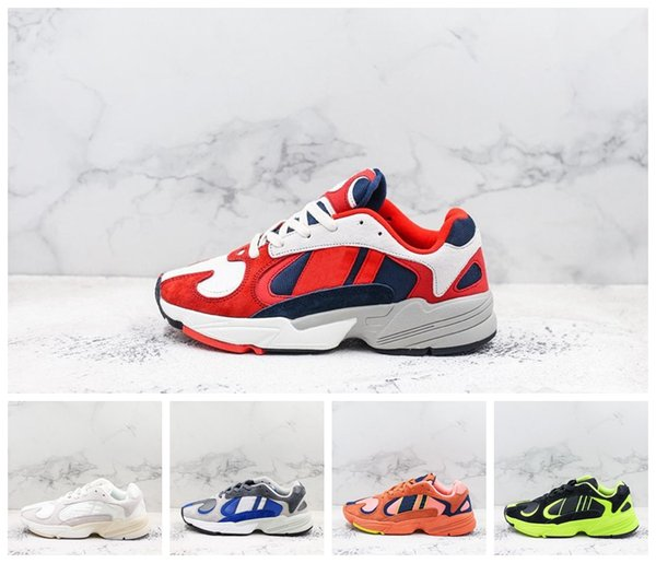 Hot Sale 2018 Dragon Ball Z YUNG 1 Kanye West 700 Wave Runner Mens Women Desginer Shoes Blcak White Orange Sports Dady Sneakers