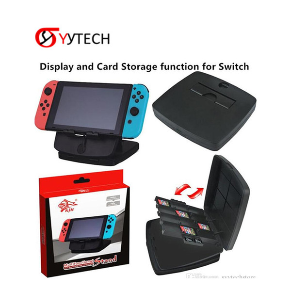 SYYTECH Hot Selling Card Storage function Multifunction Stand with Game Card Boxes Storage pro For Nintendo Switch