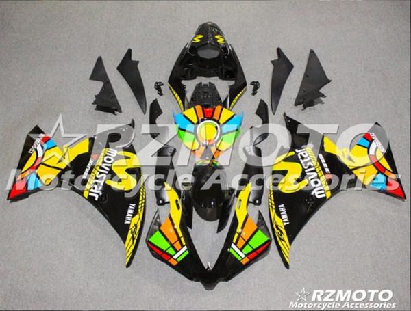4Gifst New ABS Moulage Par Injection moto Carénages Kits Fit Pour YAMAHA YZF-R1-1000 2012-2014 12 13 14 ensemble de carrosserie Carénage personnalisé noir