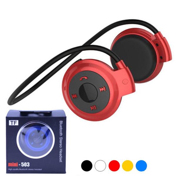 Mini 503 Wireless Bluetooth Kopfhörer Stereo Freisprecheinrichtung Sport Musik Kopfhörer Headset für iPhone 6 7 8 X Samsung S6 S7 Rand S8 Note8 mit Box