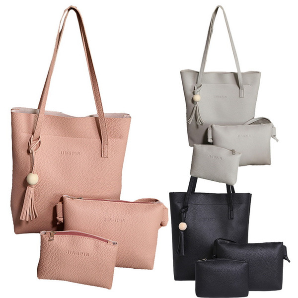 3Pcs/Set Fashion Handbags For Women Shoulder Portable Diagonal Big Tide Ladies Bag Large Tote Crossbody Bag