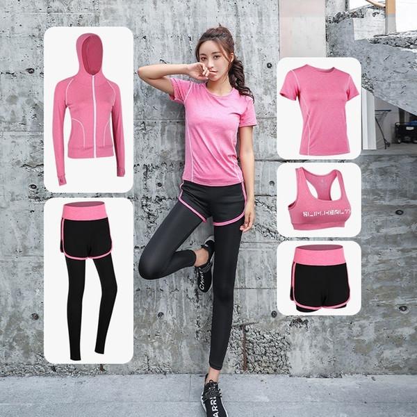 8444f4ed3557b Kadın Spor Giyim Yoga Giyim Seti Spor Salonu Spor Takım Elbise Açık Koşu  Koşu Giysileri Eğitim