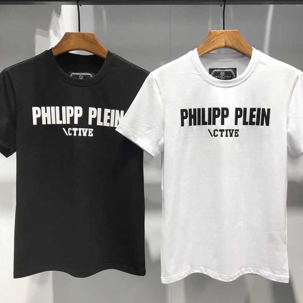 49d6c4def59d3 Nueva impresión de moda de verano marca hombres camisetas Hip Hop manga  corta de algodón camisetas