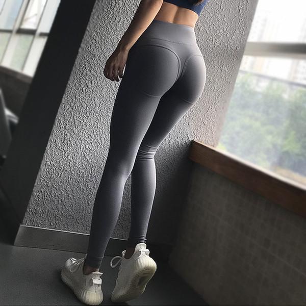 Moda Sexy Correndo Calças Mulheres Elásticas Calças de Ioga Hip Levantamento de Cintura Alta Top Quality Nylon Magro Calças De Fitness Ao Ar Livre de Fitness