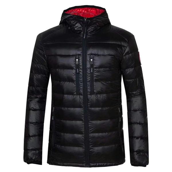 hombres de la llegada de la moda nuevo abajo blanco plumón de ganso de ganso capas de revestimiento de plumas desmontables chaquetas calientes gruesas de invierno chaqueta de parkas de los hombres 200