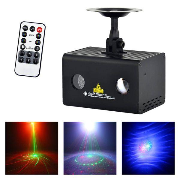 AUCD Mini 9 Gobos RG Laser Light Aurora RGB LED Water Galaxy Projector Sound AUTO Stage Lighting DJ Xmas Home Party Show LL-09RG