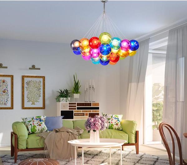 Großhandel Moderne Led Kronleuchter Farbe Bubble Ball Pendelleuchte Home  Deco Hängelampe Anpassbare Schlafzimmer Wohnzimmer Restaurant Beleuchtung  Von ...