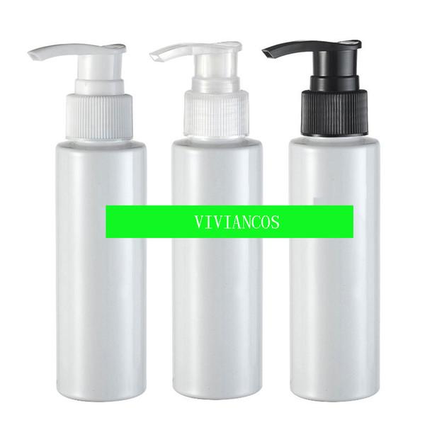 300pcs / lot PET Lotion Flacon pompe, 100cc bouteille en plastique avec pompe Dispening, 100ML Pet bouteille de shampooing