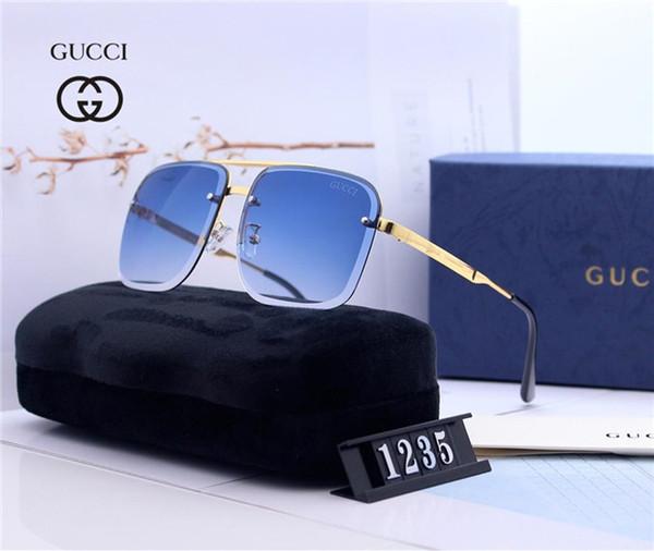 2020 Yeni Güneş Gözlüğü Lüks Güneş Gözlüğü Şık Moda Tasarımcısı Güneş Mens Womens için Cam UV400 KUTUSU ile Küçük Arılar ile 6 Stil