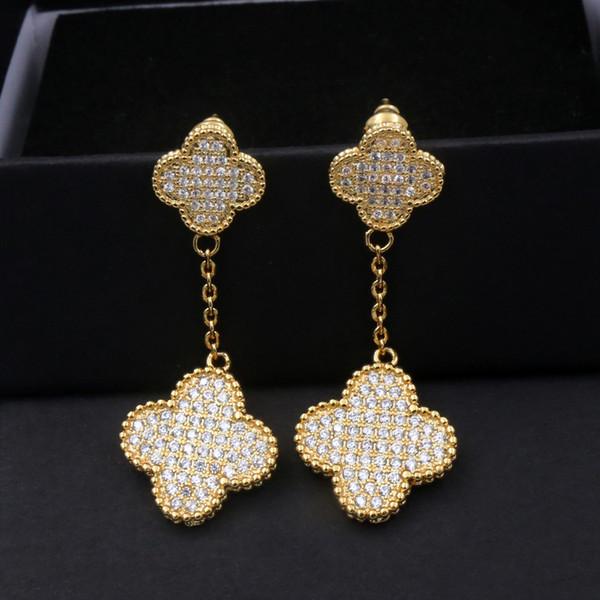 Boucles d'oreilles Goutte de couleur d'or