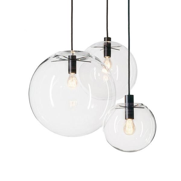 JESS Corde Suspension Lumières Globe Chrome Boule De Verre Hanglamp Lustre Suspension Cuisine Lumières Luminaire Maison Suspendues E27