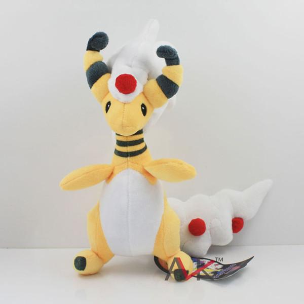 Brinquedos De Pelúcia dos desenhos animados Mega Xy Ampharos Bonecas De Pelúcia Macia Pikachu Dos Desenhos Animados Bonitos Animais Boneca De Pelúcia Para As Crianças Presente