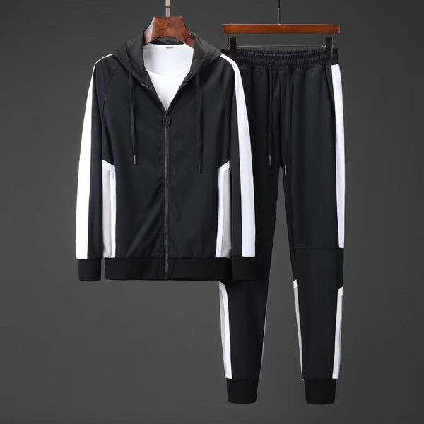 2019 Jackets Set Fashion Running Tracksuits For Men Sports Suits Colorful flowers printing Hoodies Clothing Track Suit Medusa Sportswear688