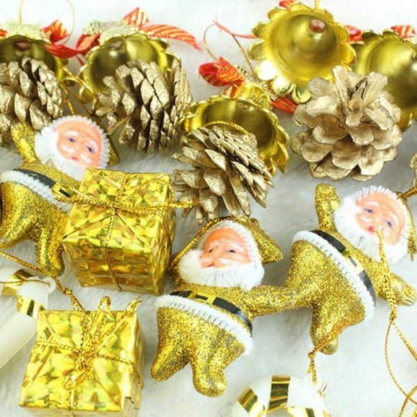 36Pcs Golden Christmas Tree Ornaments Christmas Decorations Christmas Gifts Best Prices