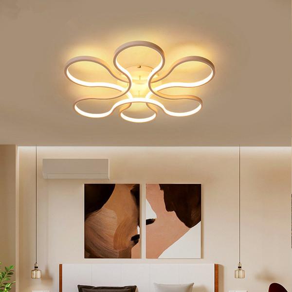lustre moderne led pour salon chambre corps en aluminium télécommande lustre maison éclairage lampe luminaire
