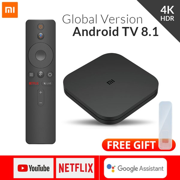 Xiaomi Mi TV Box S 4 Android 8.1 HD 4K QuadCore Bluetooth Smart 2 Go 8 Go HDMI WiFi UP Boxs Set Media Player