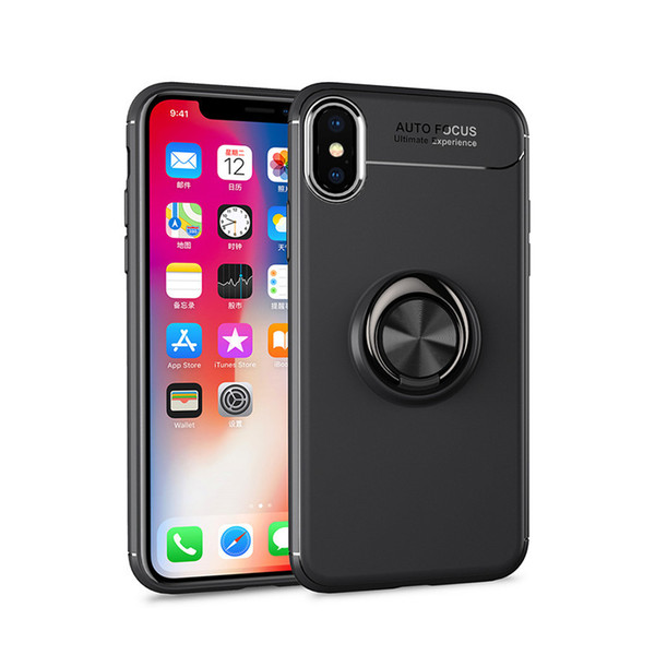 6Types 360 Degree Ring Holder Cell Phone Cases For Iphone XS Max XR X 8 7 6 Plus iphone 5/5S/SE Soft Armor Hybrid Covers Mobile Phone Cases