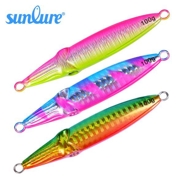 1PC Lead Fish Lure 5 Color Fishing Bait 8cm 11cm Casting Lure 40 60 80 100g Deep Sea Jig Hard Fishing