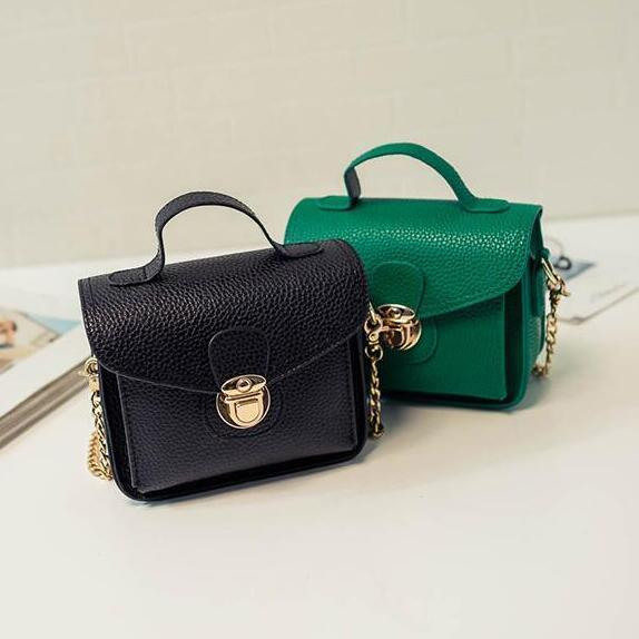 2019 Summer New Fashion Female Bag Embossed Quality Pu Leather Women Bag Handbag Chain Lock Shoulder Messenger Small Bag Mini