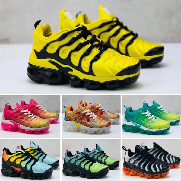 sulle immagini di piedi di acquista l'originale informazioni per Acquista Nike Air VaporMax Plus TN 2019 Di Alta Qualità Bambini Atletici TN  Scarpe Bambini Ragazzi Scarpe Da Basket Bambino Huarache Leggenda Blu ...