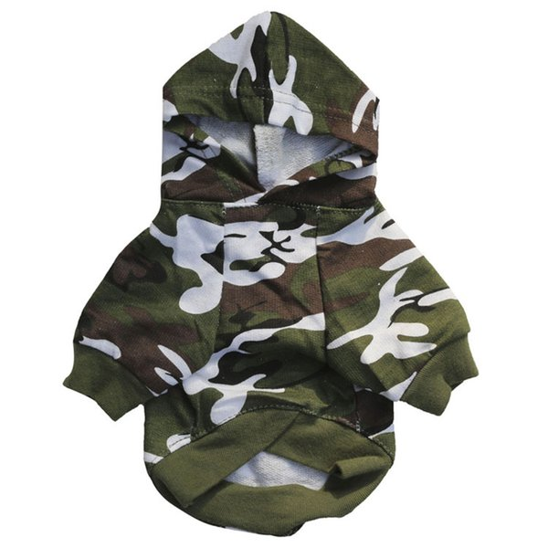New Pet Dog Clothes For Small Dogs Camouflage Hooded Sweatshirt Puppy Pet Cat Coat Jacket Chihuahua Pug Hoodie Clothing Apparel