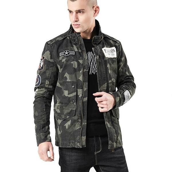 Herren Bomberjacke Casual Men Army Camouflage Tactical Mäntel Man Fashion Windbreaker Anorak Baseball Jacken Kleidung Größe M-4XL