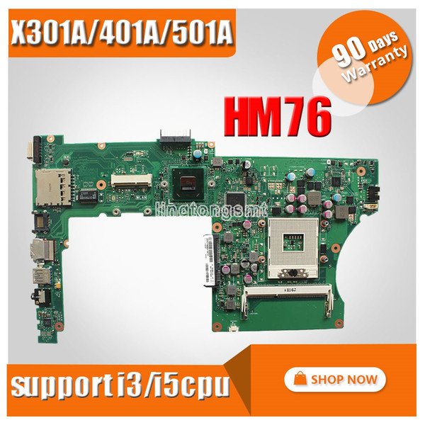 """For ASUS X401A X301A X501A 14""""or15.6"""" laptop motherboard support CPU i3/i5 processor PGA989 HM76 100% Tested Mainboard"""