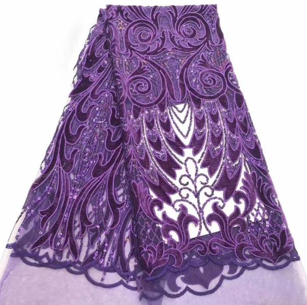 5yards de haute qualité blingbling paillettes brillantes tissu de dentelle couture velours femmes bricolage tulle robe de dentelle conceptions robe de soirée de mariage