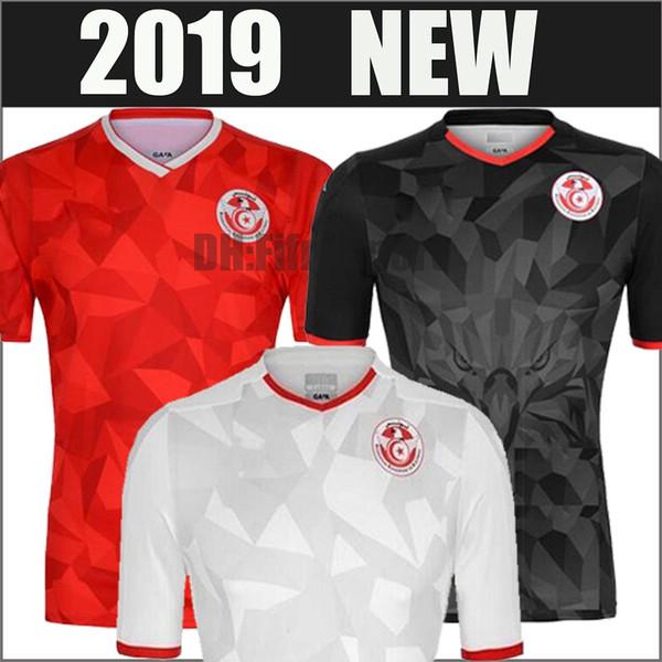 2019 2020 Selección nacional de Túnez Fútbol Jersey Msakni Khazri Sliti Wahbi Khaoui FAKHREDDINE BEN YOUSSE HAMZA Camiseta de fútbol roja personalizada S-XL