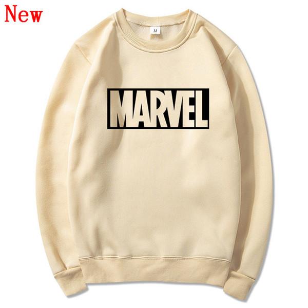 Frete grátis Nova Marca Marvel homens Hoodies Impressão Pulôver de algodão de qualidade Casual homens O pescoço maravilha Camisolas homens QJ6