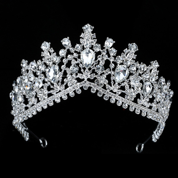 top popular Tiaras And Crown HADIYANA Beauty Water Drop Design Women Wedding Party Zircon Hair Accessories BCY8891 Princesa 2021