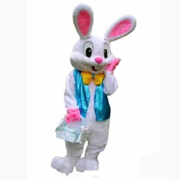 High quality new PROFESSIONAL EASTER BUNNY MASCOT COSTUME Bugs Rabbit Hare Adult Fancy Dress Cartoon Suit