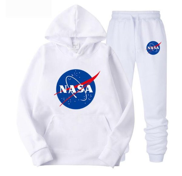 Fashion Designer NASA Tuta Primavera Autunno Casual Unisex Sportswear di marca Mens Track Abiti Felpe di alta qualità Abbigliamento uomo