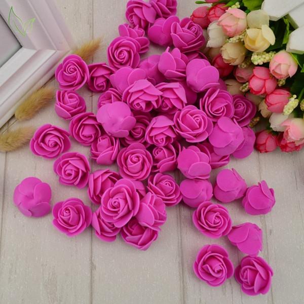Pe Espuma Falsa Flor Rosas Flores Artificiais Cabeça Decoração de Casamento Barato Para Scrapbooking Caixa de Presente Coroa de Flores Diy Multi-uso