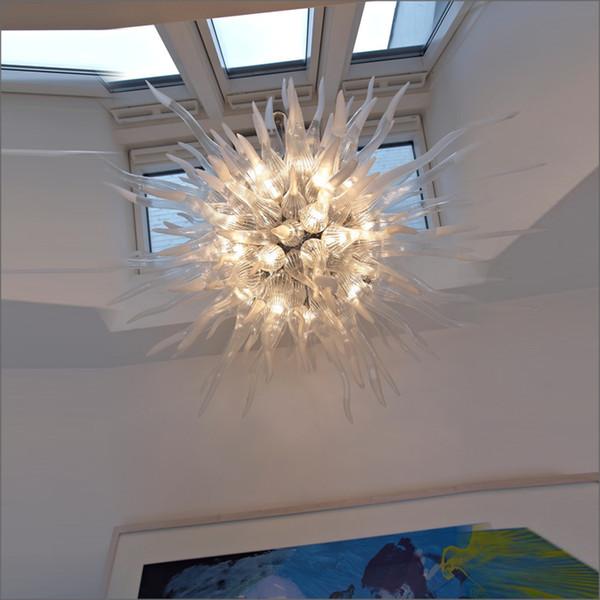 Dale Chihuly Art Mundgeblasen 110V / 120V LED-Lampen Türkisch-Art-Kunst-Dekor Hand Blown Murano Glas Deckenleuchten Designer