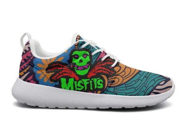 The Misfits Pop art Fashion, zapatos de espuma de diseño Unisex ocio caucho loco cordones