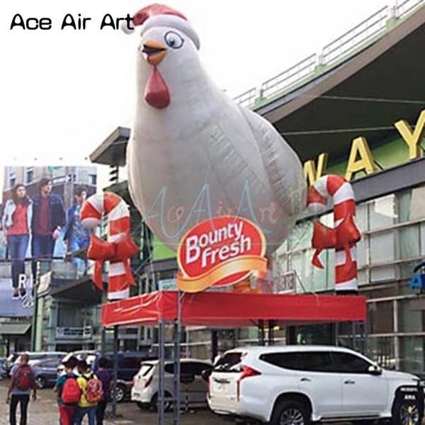 Оптовый Standing животного воздушного шар надувного цыпленок курица, Бидди модели, реклама холодного шара на крышу с бесплатной воздуходувкой для продажи