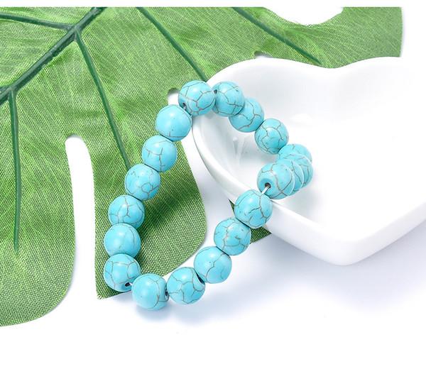Bracelet Turquoise Naturel Mode Perle Turquoise Ball Bracelet Factory