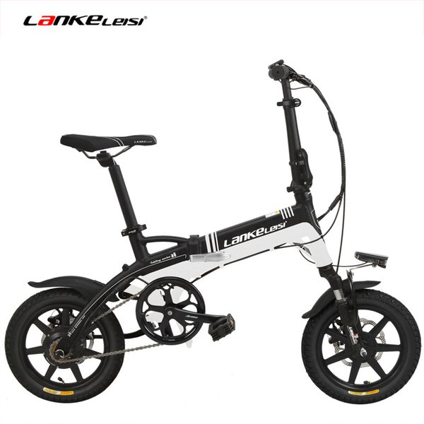 A6 Elite 36V 8.7Ah Hidden Battery Ebike, Portable 14 Inches Folding Electric Bicycle, Integrated Wheel, 5 Grade Assist, Disc Brake