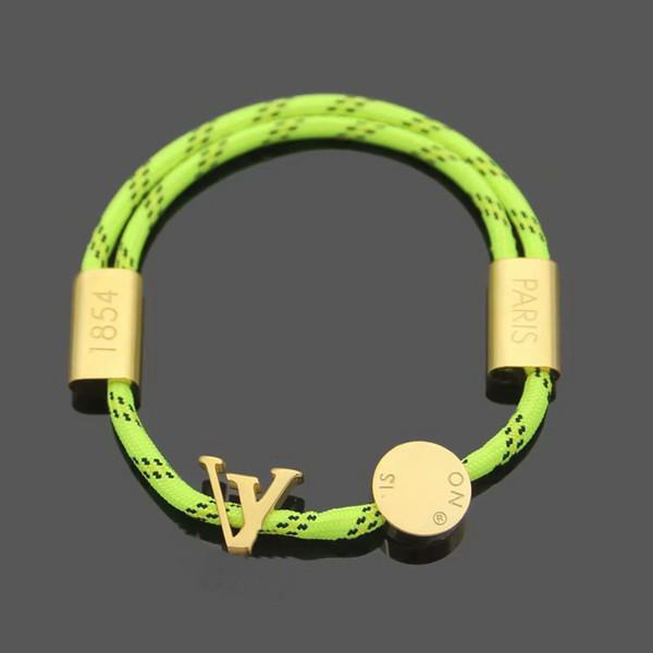 Cuerda verde / oro amarillo