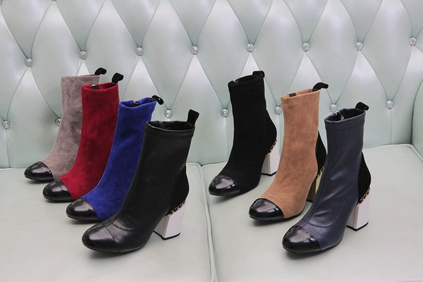 Comfortable Top Fashion Suede Classic Wyatt Ankle women Boots leather Stage Walk Show Motorcycle Boots Street Fashion Low Heel Shoes winter