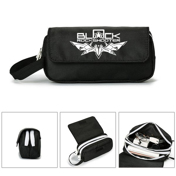 Anime Black Rock Shooter BRS Wallet Purse Cosmetic Stationery Pencil Bag Girls Boys Gift Back to School Hand Bag Portable