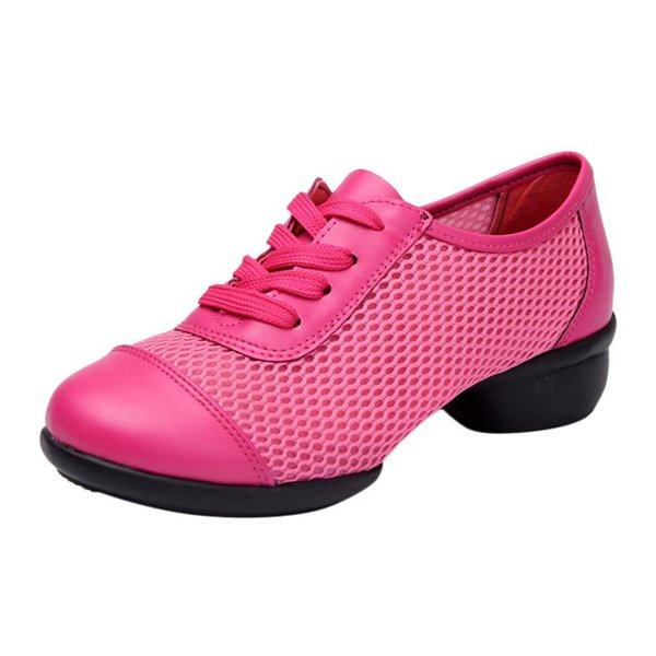 Dress Xiniu Women's Soft Bottom Mesh Shoes Lace-up Ladies' Comfortable Cheap Casual Ladies Single Shoes Dancing Shoes Free Shipping