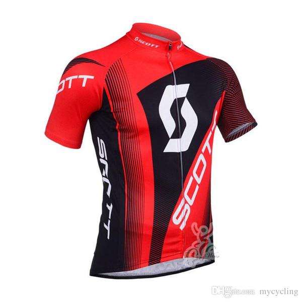 2018 nuevo equipo Scott Ciclismo camisetas Ropa de bicicleta bicicleta mtb Use camisas de manga corta de verano de secado rápido transpirable ropa deportiva al aire libre F2751